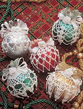 Ornament Covers.bought this pattern years ago..have made dozens of these. Beautiful!