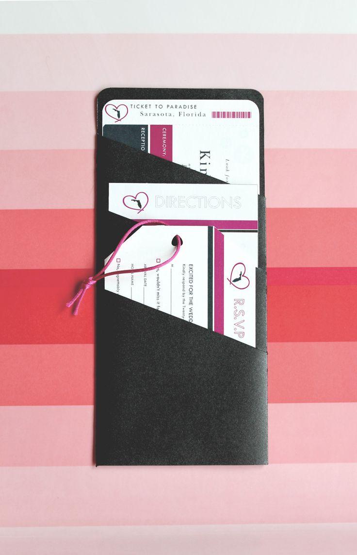 proper response time for wedding rsvp%0A Boarding Pass Invitations  Katie Hinks Design  wedding  invitations   boardingpass