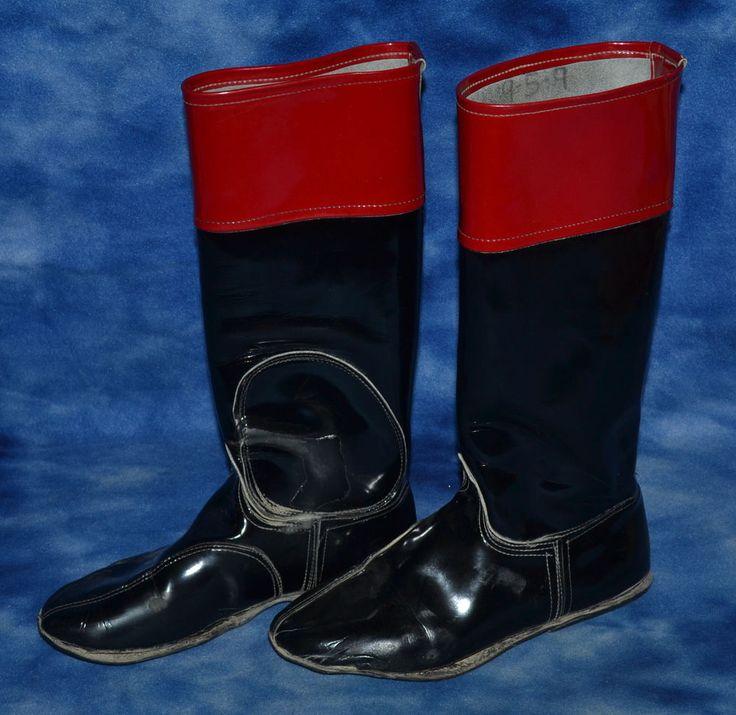 JOCKEY RACING BOOTS EQUESTRIAN DECOR RED & BLACK #Unbranded