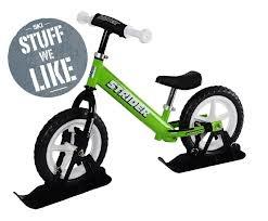 strider bikes - Green Strider with Skies