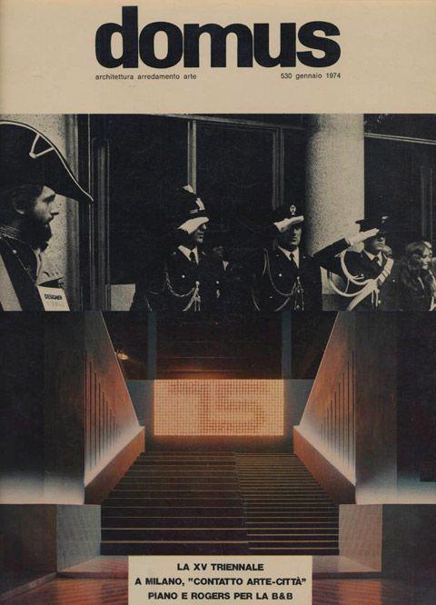 Michele De Lucchi on the cover of Domus, 1974. Foto © Archivio Michele De Lucchi