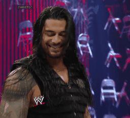 Roman has such a cute smile