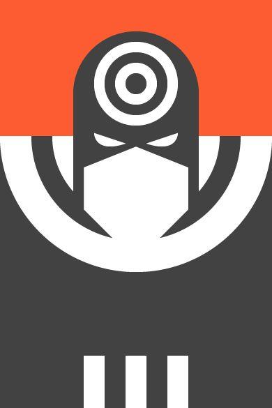Re Vision Pop Culture Icons by Forma & Co cartoon comic Marvel superheroe villian Bullseye