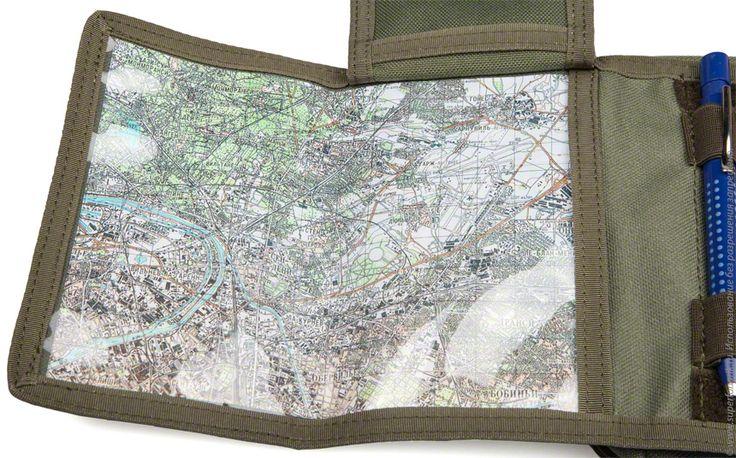 Органайзер Ota. Карта Парижа (ГШ ВС СССР) крупным планом.