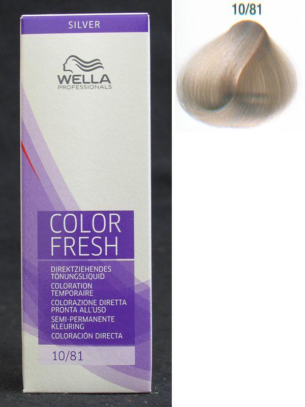 Wella Color Fresh 10 81 Das Beste 252 Berhaupt Um
