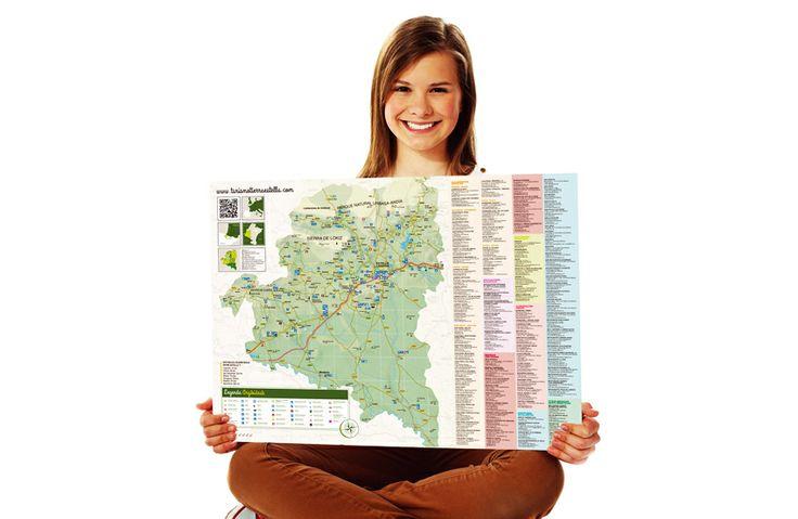 Calle Mayor diseña y elabora un mapa-callejero de Estella, mapa-guía y recorridos de Tierra Estella, guía de servicios turísticos, y marcapáginas, para el Consorcio Turístico de Tierra Estella - Calle Mayor Comunicación y Publicidad.