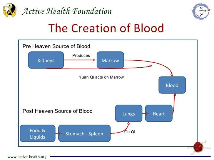Creation of blood