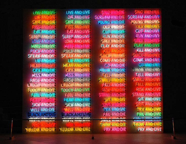 Bruce Nauman, 'One Hundred Live and Die'