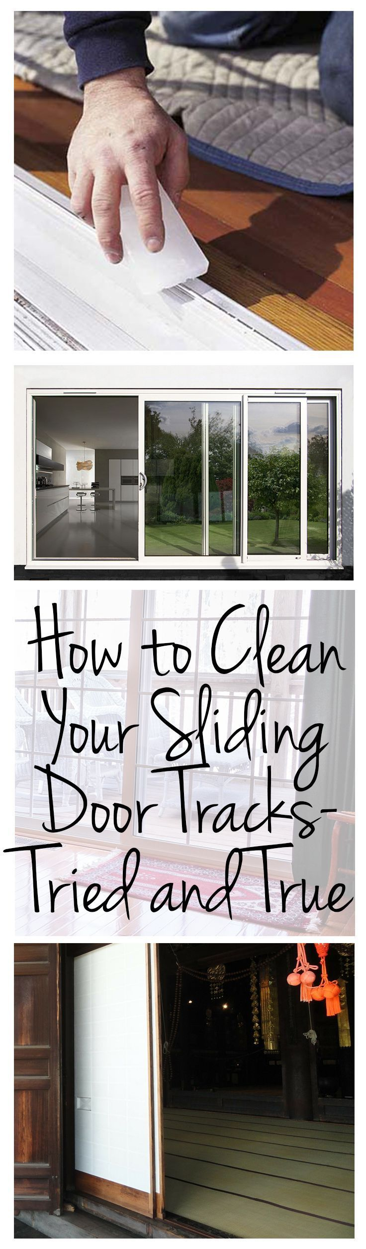 1268 best clean images on pinterest how to clean your sliding door tracks tried and true