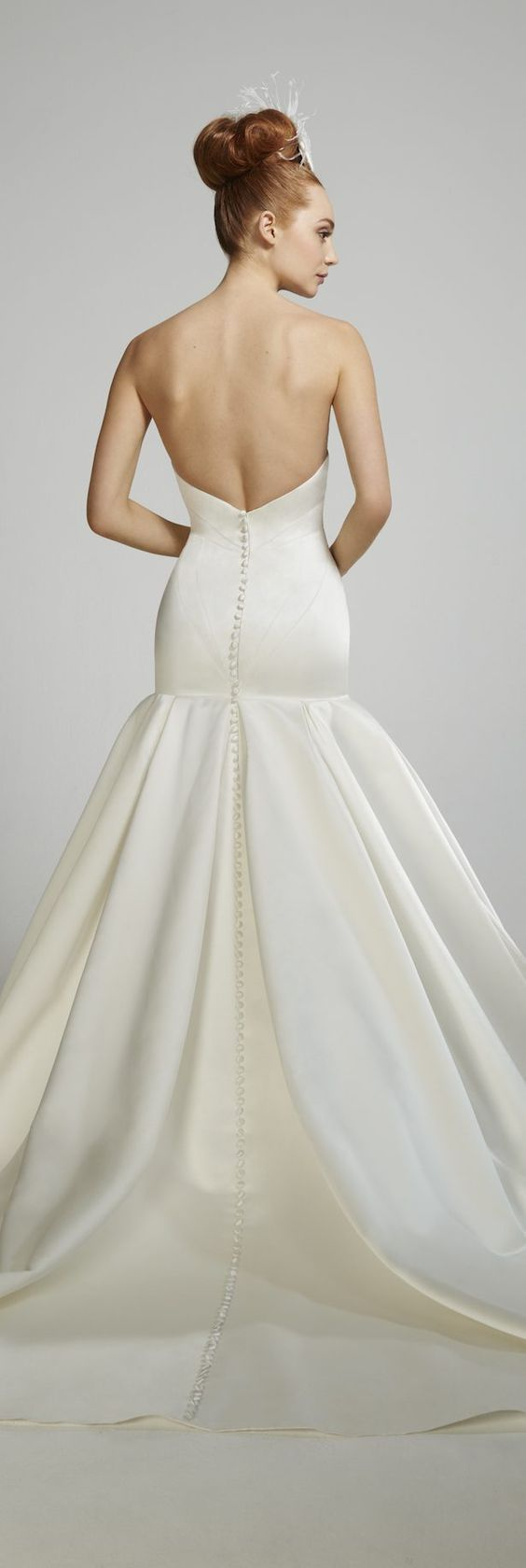 Featured Dress: Matthew Christopher; Wedding dress idea.