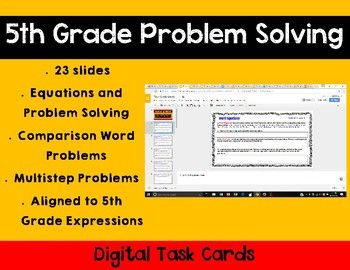 **Aligns to 5th Grade Math Expressions**This product includes 16 digital task cards for dividing whole numbers and dividing decimals using Google Slides. I created this product to guide math instruction through a Learning Management System and/or Google Classroom.