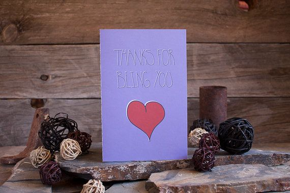 Thanks For Being You Thank You Card by sylvannest on Etsy, $5.00