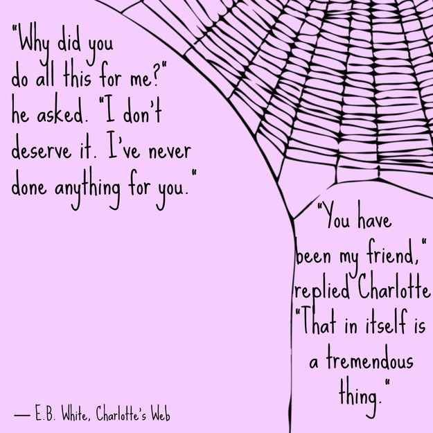 Charlotte's Web, E.B. White. I'm reading this book to my first graders right now. It's a wonderful book about friendship, with great story characters for discussion. We read the book together, then celebrate by watching the animated movie. The kids love it.