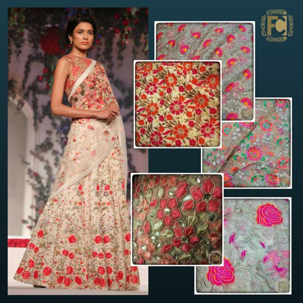 #floral #embroidery #net #flowers #designerfabric #designercollection #makeinindia
