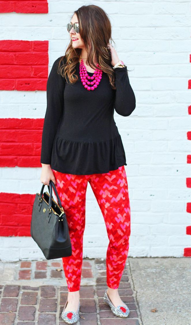 Inspiration look Day to night : Bright on a Budget: Galentine's Day Outfit with LuLaRoe Valentine's Day