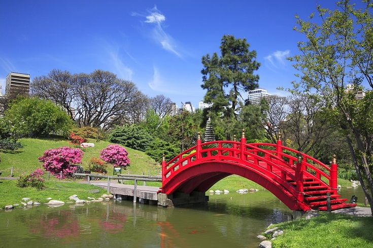The Japanese Gardens in the Palermo neighborhood of Buenos Aires, Argentina provide a quiet oasis in the heart of the city.