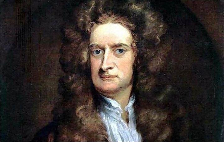 Isaac Newton leefde van 1643 tot 1727. Hij staat bekend om het appelverhaal, waarom valt de appel wel maar de maan niet op aarde. Newton is de man die de natuurwet heeft opgesteld. Hij was een natuurkundige, een wiskundige, astronoom, natuurfilosoof, alchemist, officieel muntmeester en theoloog.