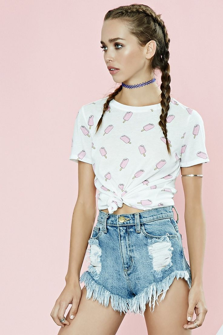 popsicle print tee tops 2000176454 forever 21 eu english fav clothing outfits. Black Bedroom Furniture Sets. Home Design Ideas