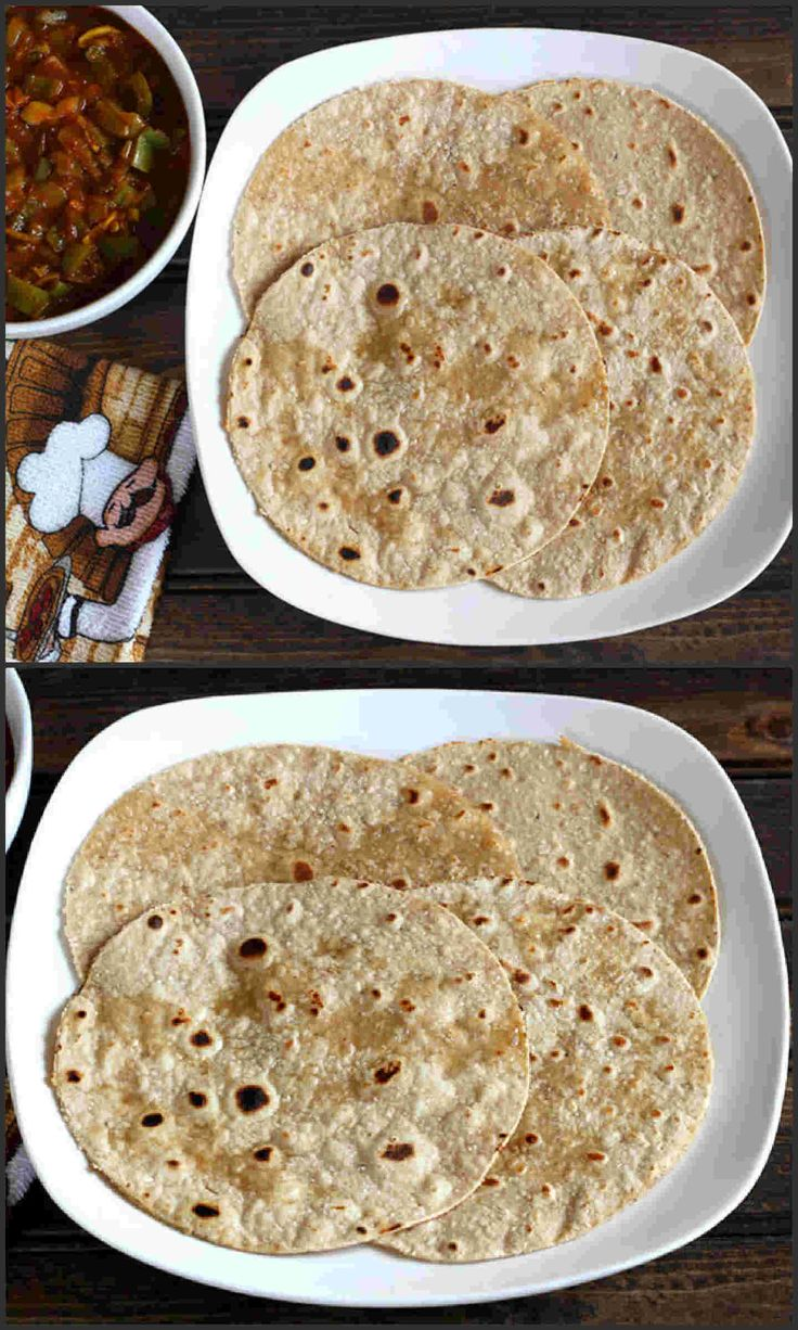 Oats Chapati:  a very nutritious, easy to make vegan flat bread recipe prepared using oats and wheat flour in less than 30 minutes.