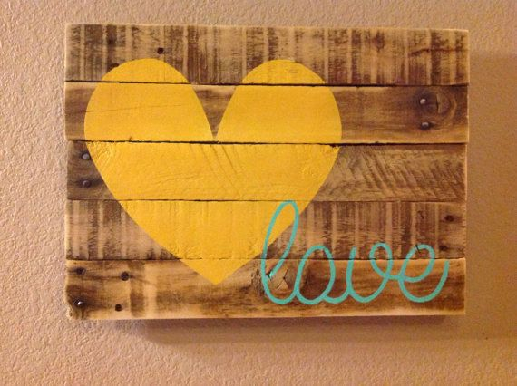 Love Pallet Sign by FancifulShenanigans on Etsy, $35.00
