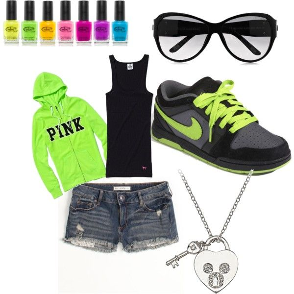 Cute!!: Neon Green Outfits, Shoes Aren T, Fashion, Style, Neon Running Shoes, Volleyball Outfit, Shoes Clothes Jewerly, Fav Outfit