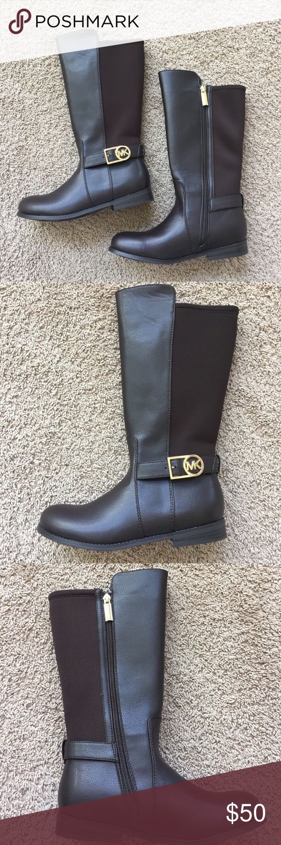 MK Boots Great boots that will match everything. Chocolate brown color. These have never been worn but they are new and don't have the tag or box. Michael Kors Shoes Boots