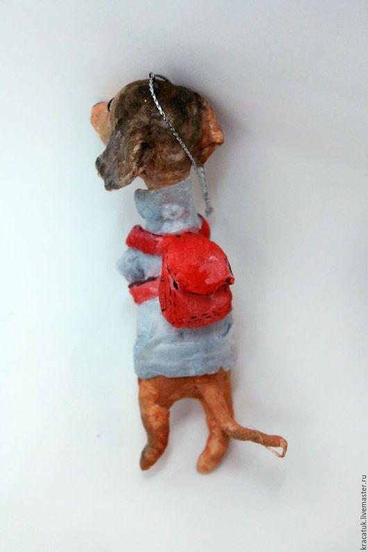 Новый год 2017 ручной работы. Ватная елочная игрушка Собака Такса. Кристина Шадрунова (kracatuk). Ярмарка Мастеров. елочная игрушка