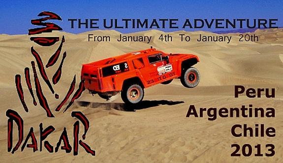 O Rally Dakar, que começa em Lima, Peru, é uma competição de extremos, e um desafio de 15 dias que leva motoristas através de alguns dos desertos mais impressionantes do mundo.  A corrida em Lima é um desafio de orientação que reúne alguns dos melhores motoristas de longa distância.  O desafio atrai competidores de mais de 50 nacionalidades, que são assistidos pela televisão por cerca de bilhões de espectadores em 190 países.