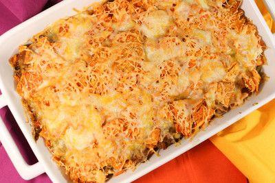 Ground Beef Doritos Casserole | If you like Mexican food, you'll love this ground beef casserole.