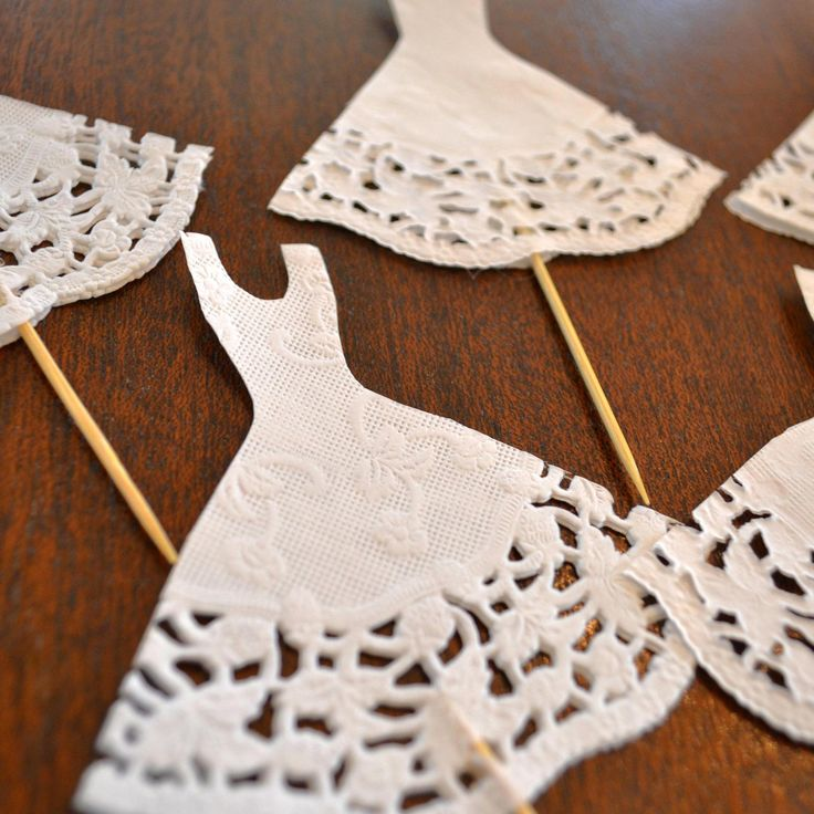 Wedding dress hors d'ouevres picks ...I'm guessing they're easy to make, and would be WAY cute for a bridal shower