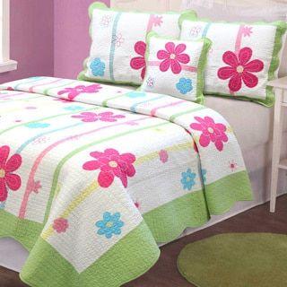 Shop for Spring Fling Flower 3-piece Quilt Set. Get free delivery at Overstock.com - Your Online Kids'