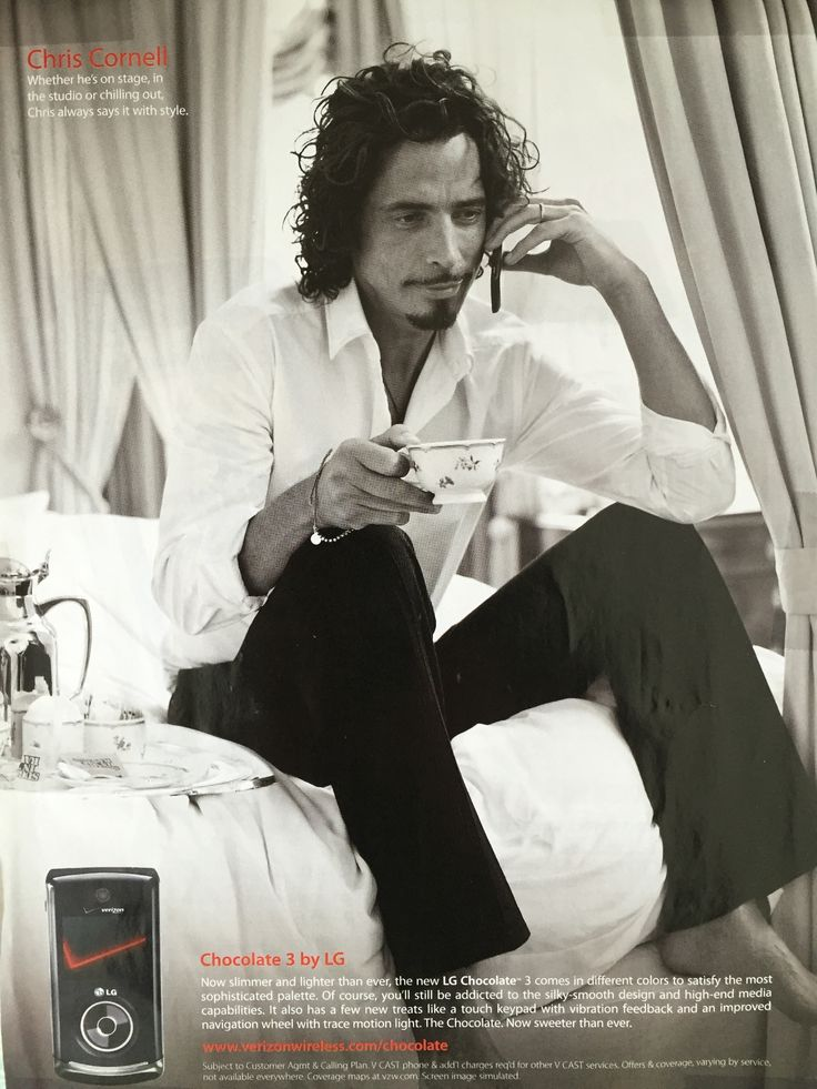Chris Cornell drinking tea in the Chocolate 3 by LG phone ...