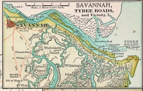 1000+ images about Maps of Savannah GA on Pinterest ...