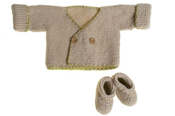 Easy Beginners' Knitting Pattern | Baby's garter stitch jacket and booties | 0-3months | The Little Songbird