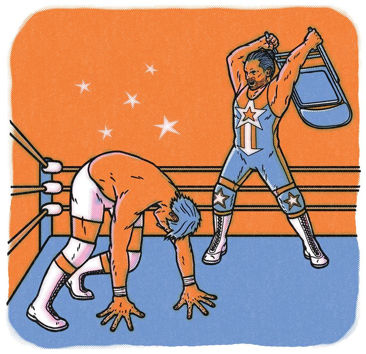 Small-Town Smackdown Why professional wrestling still has a chokehold on the East Coast #wrestling #sports ILLUSTRATION BY MARK CABUENA