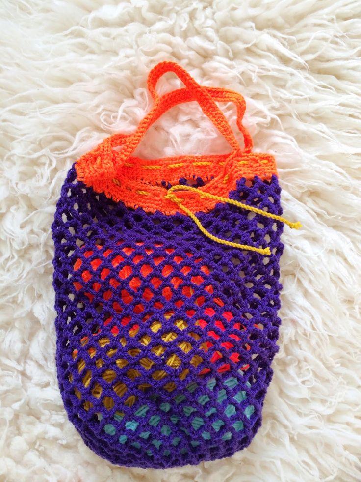Gehaakte tas / Crochet mesh bag | Wimke | DIY | Recepten | Uittips