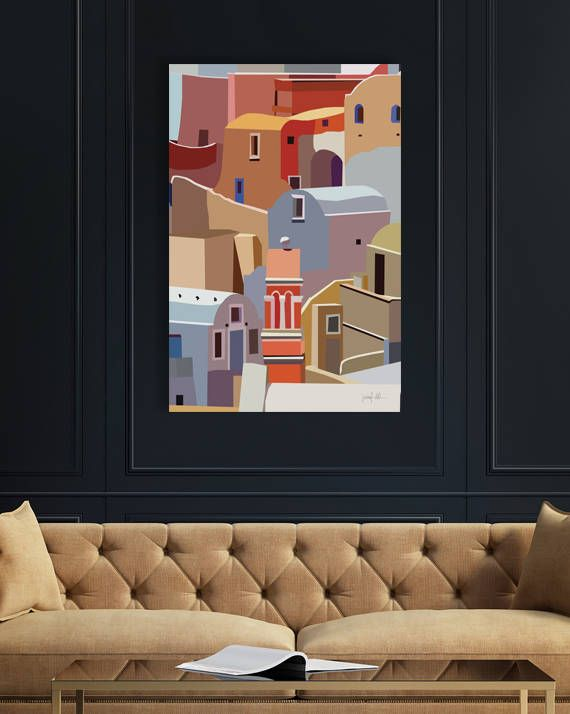 "Greek Islands printable wall art Santorini print Oia Santorini USE THE CODE ""HUNKYDORY"" TO RECEIVE 30% OFF!"