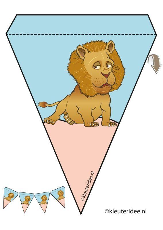 oroszlán inga, téma állatkert, Miss Petra óvoda ötlet, oroszlán girland Óvoda állatkert téma, ingyenes nyomtatható.