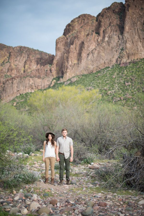 indie Arizona mountain engagement inspiration