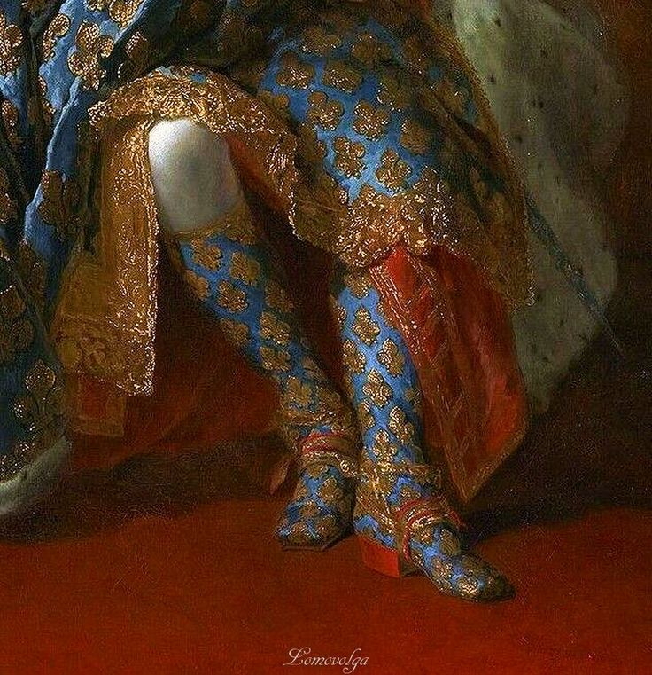 Portrait of Louis XV of France (detail), 1723, by  Alexis Simon Belle (French, 1674-1734).