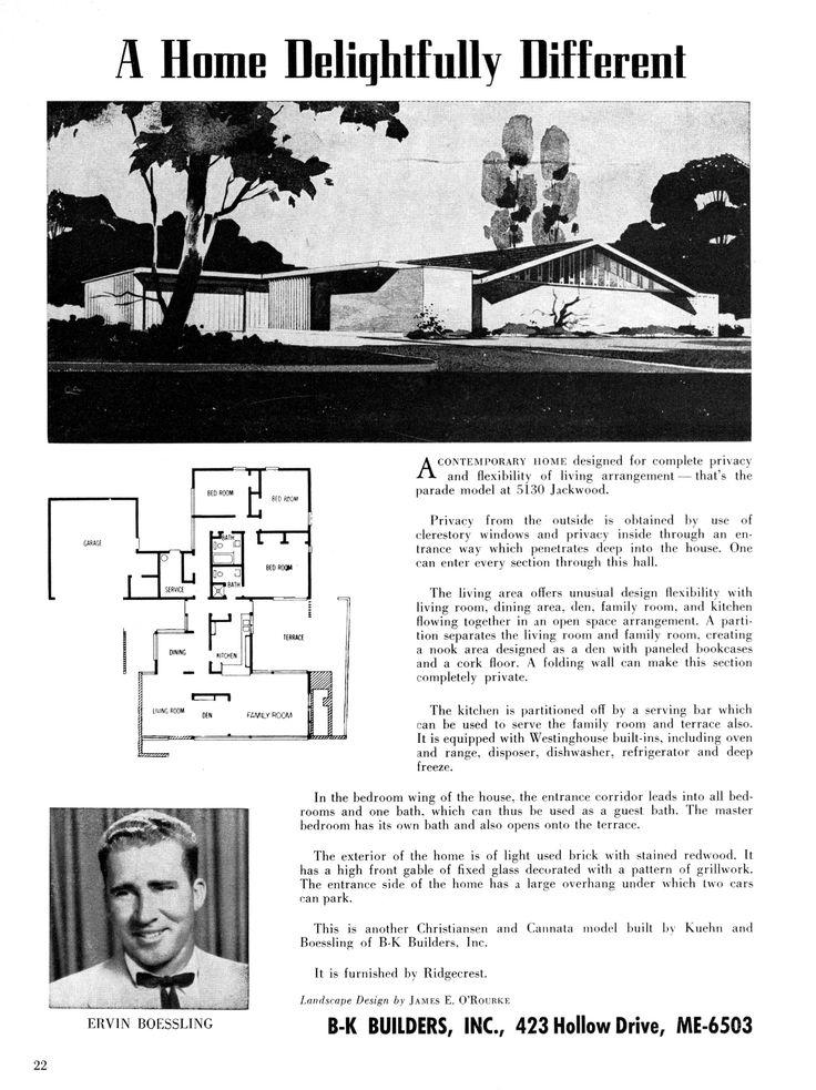 92 best mid century modern vintage house plans images on for Mid century modern architects houston