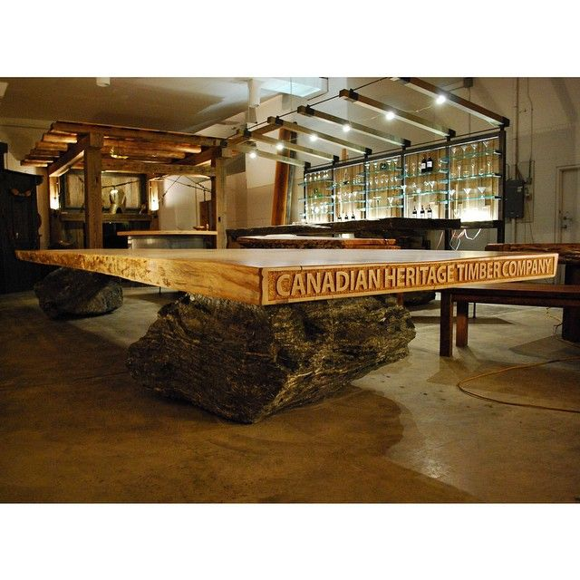 """This Fir slab is around 678 years old dating back to 1336 AD. Christopher Columbus was born in 1450.. Now it sits in our showroom for all to see.…""  