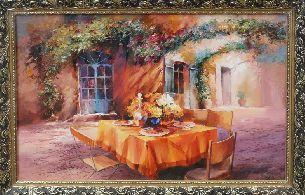 Во дворе - Средиземноморье <- Картины маслом <- Картины - Каталог | Универсальный интернет-магазин подарков и сувениров