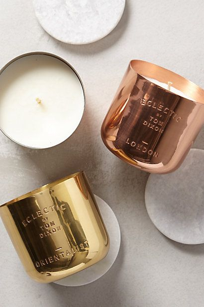 The Eclectic Orientalist from Tom Dixon is an indulgent candle that encapsulates the smell of the orient: http://www.utilitydesign.co.uk/tom-dixon-eclectic-orientalist-candle