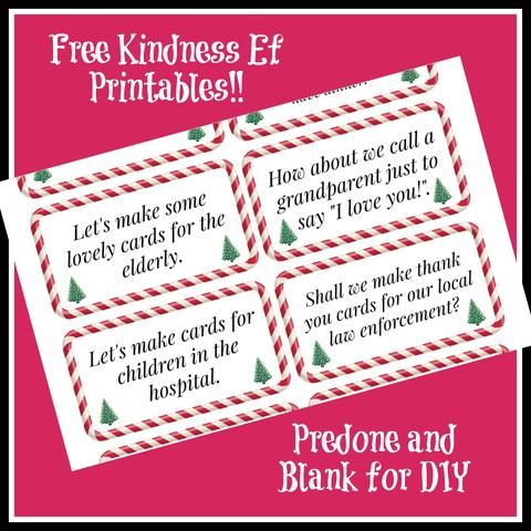 Free Kindness Elves Printables