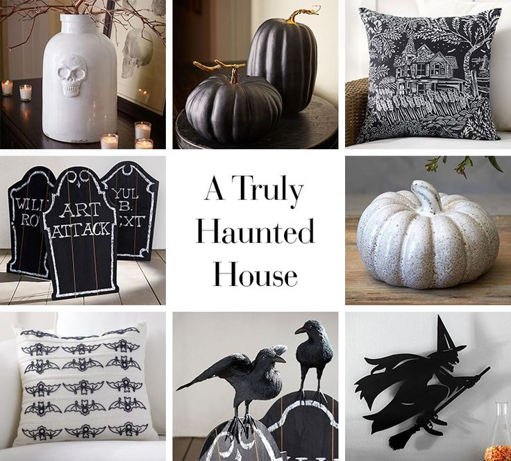 black white halloween - Black And White Halloween Decorations
