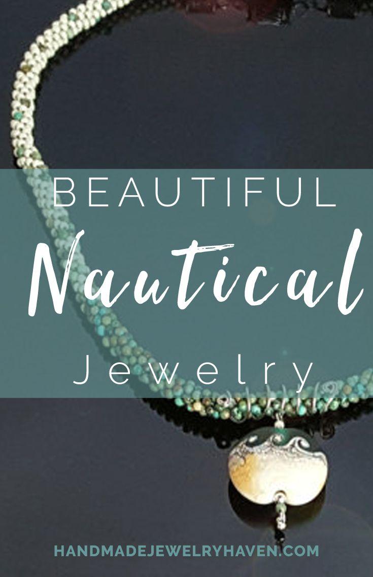 Lampwork Wave Pendant Kumihimo Necklace. #nauticaljewelry #surferjewelry #bohojewelry #oceanfashion