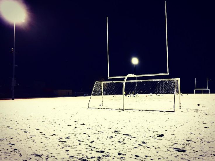 Drove by Minoru Park tonight and was pleased to see a group of kids playing five-a-side despite the conditions      #footyscout #football #soccer #footy #goals #training #instalike #player #soccerislife  #footballer #blogger #exercise #love #game #futbol #club #sports #cup #instagood #blog #winning #fiveaside #snow #winter #freezing #canada #richmond #beautiful #winterwonderland #whiteout