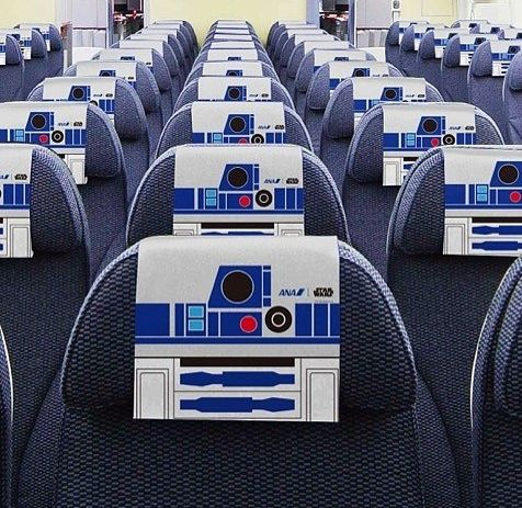 The seats to the super cool R2D2 plane