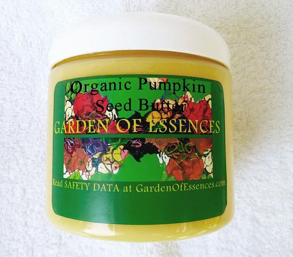 ORGANIC Pumpkin Seed Body and Facial Butter Chemical Free. Anti-inflammatory properties of Pumpkin Seed Butter soothe irritated skin, such as sunburn, rashes, or itching scars, due to plant compounds known as phytosterols. #acneandmenopause,